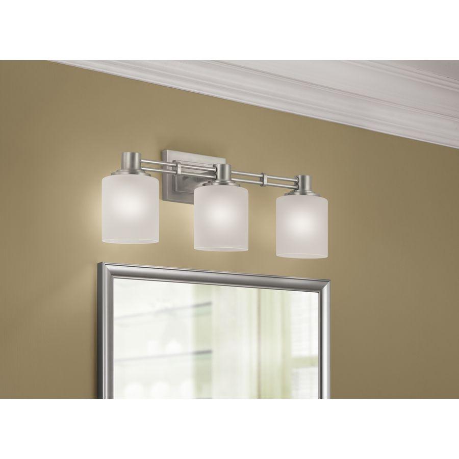 Shop Portfolio 3-Light Lunenbeck Brushed Nickel Bathroom Vanity Light at  Lowes.com - Shop Portfolio 3-Light Lunenbeck Brushed Nickel Bathroom Vanity