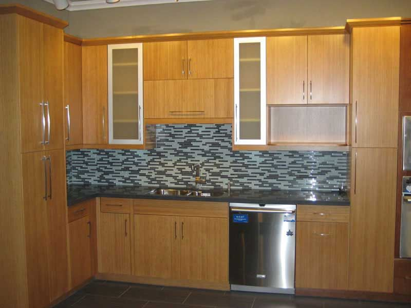 Honey Bamboo, Bottom Cabinets. Discount Kitchen Cabinets ...