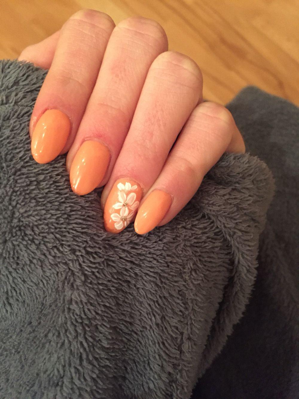 spitz#aprikot#muster#gel#nägel | Nägel | Pinterest | Gel-Nägel ...