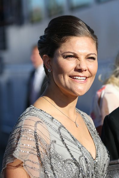 Royal Family Around the World: Crown Princess Victoria of Sweden arrives to attend the pre-wedding dinner in honor of her brother, Prince Carl Philip Of Sweden and Miss Sofia Hellqvist on June 12, 2015 in Stockholm, Sweden.