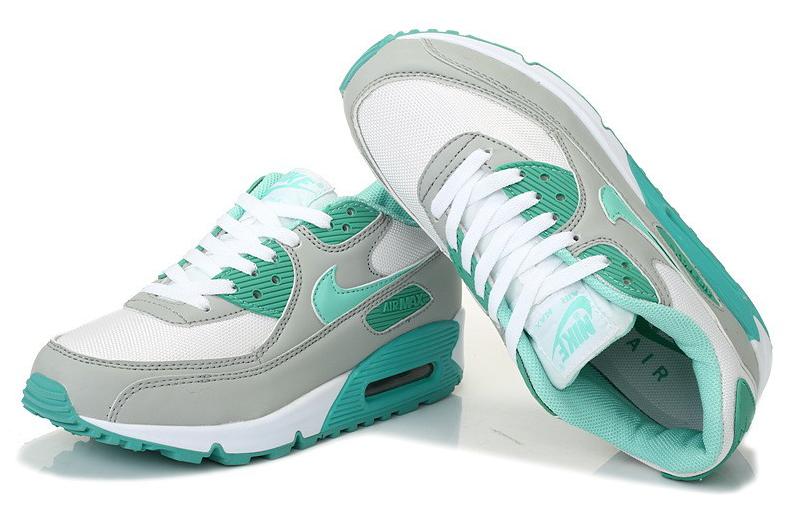 new style 600f0 c5891 Nike Air Max 90 Femme Viridian Vert Vert Gris Blanc Site Officiel