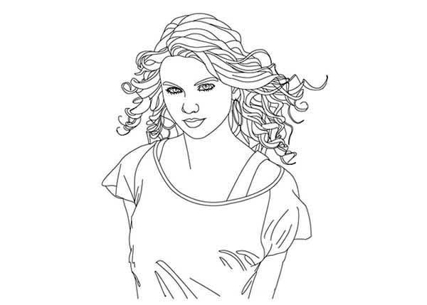 Taylor Swift  Taylor Swift Coloring Page for Kids  Ausmalbuch