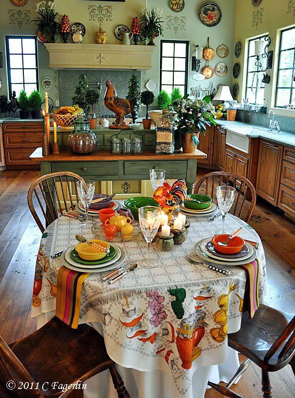 Una Cucina Italiana   Tavola Apparecchiata   Table Settings #kitchen