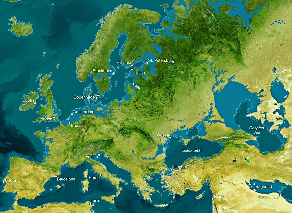 Sea Level Rise Map Predictions Click