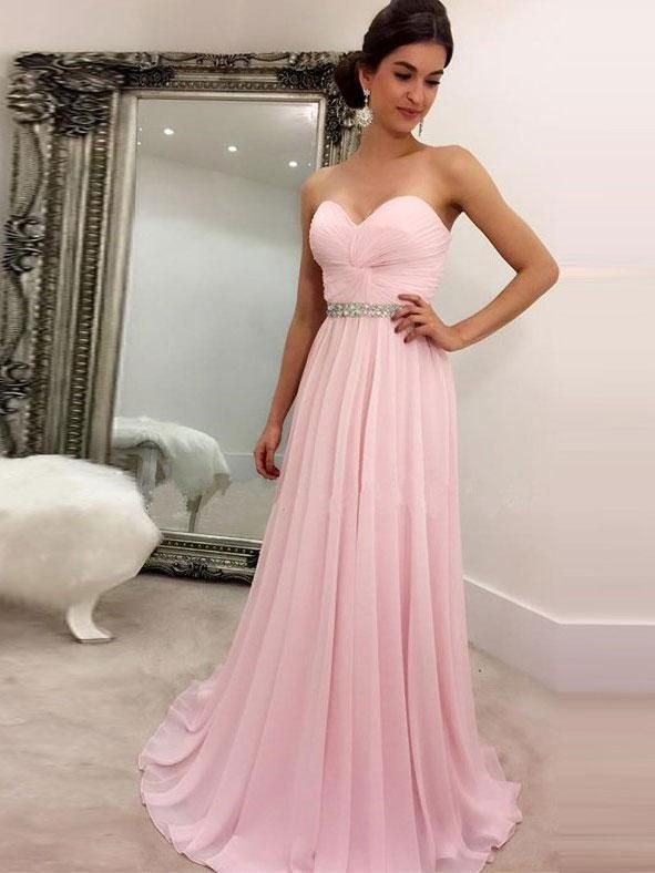 simple sweetheart prom dresses