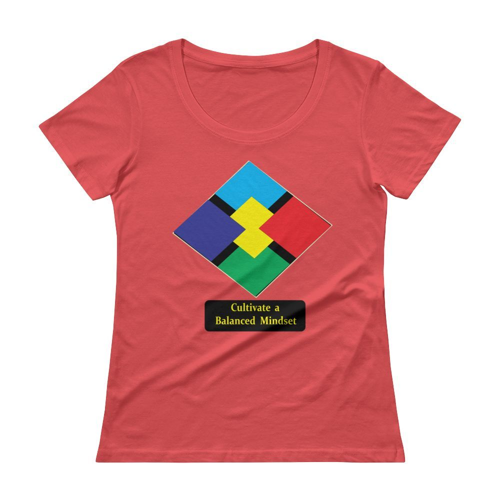 Ladies' Scoopneck T-Shirt - Cultivate a Balanced Mindset