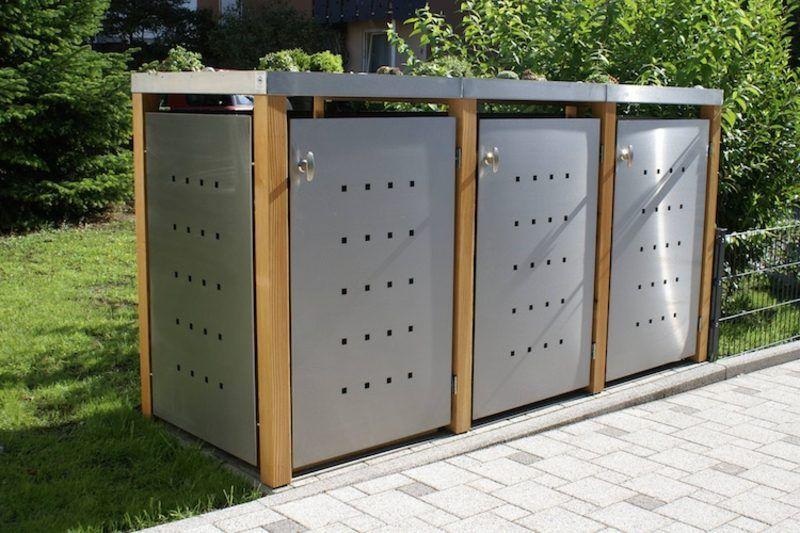 g nstige ideen f r den au enbereich m lltonnenbox selber bauen blumen pinterest tonne. Black Bedroom Furniture Sets. Home Design Ideas