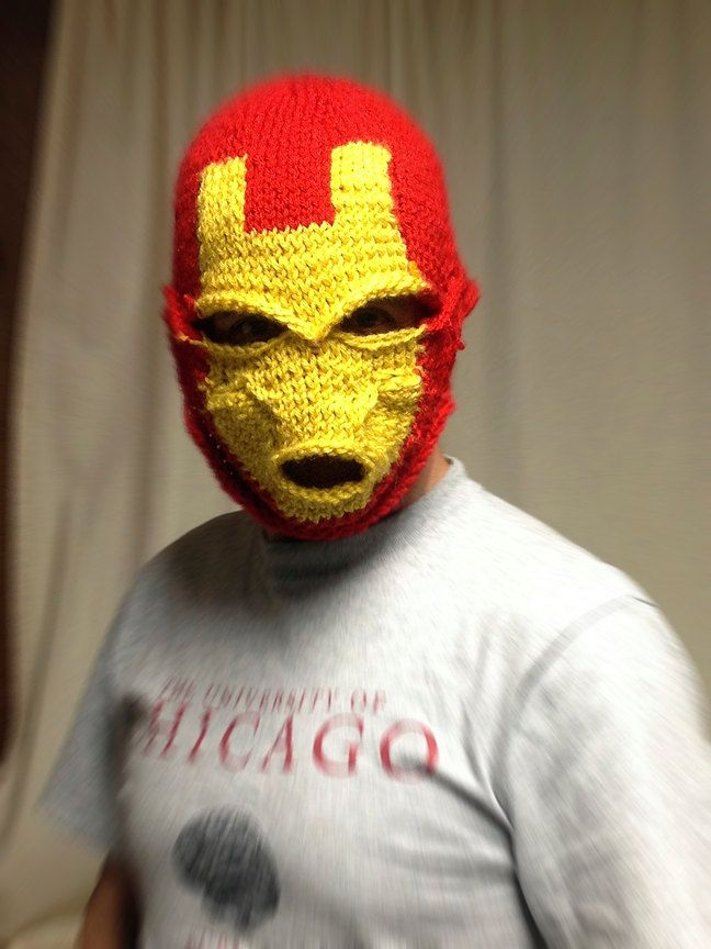 Iron Man Ski Mask...this terrifies the *&$% out of me. | Ski mask ...