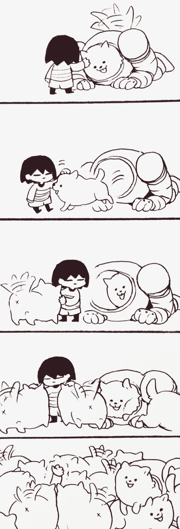 I can relate to Frisk. This is what happens when you go out in public after you walked your dog.