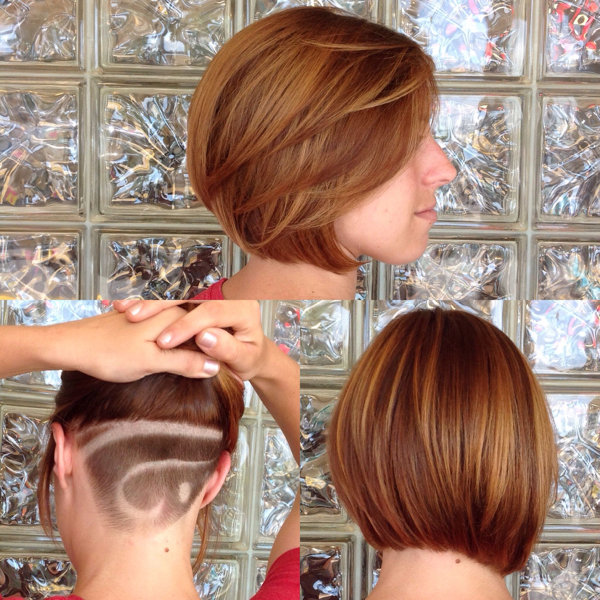 Bob With Shaved Underneath Shaved Bob Honeyblonde In The Salon