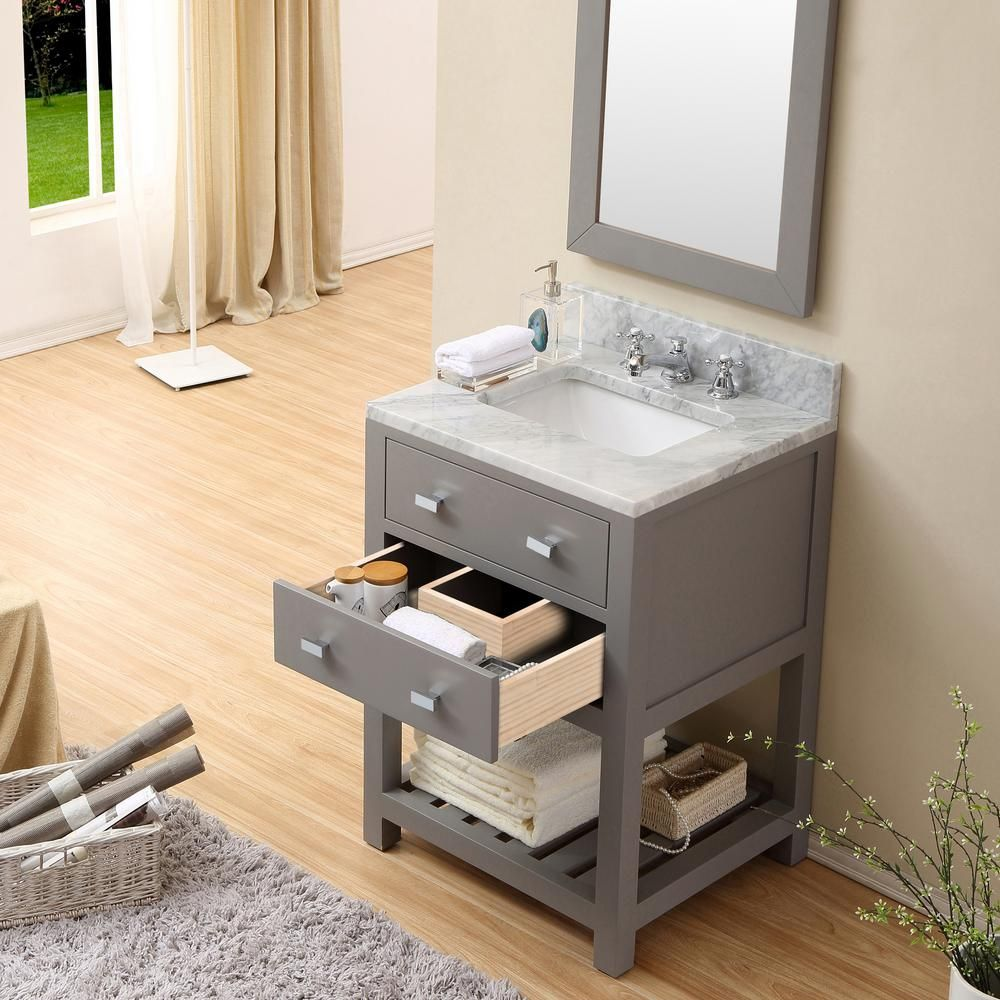 Water Creation 24 In W X 21 5 In D X 34 In H Vanity In Cashmere