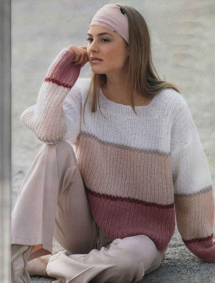 Womens Hand Knit Mohair Sweater 56G | Вязалки | Pinterest | Tejido ...