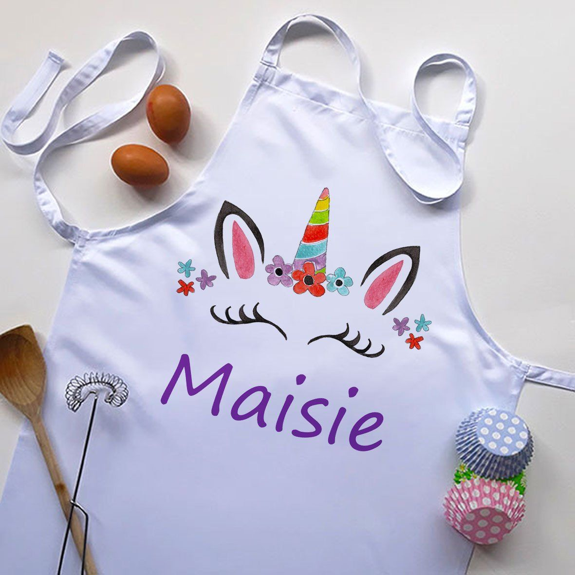 personalised aprons-Cooking Gifts-Kitchen Gifts-Kids Cooking Gift-Apron & Utensils