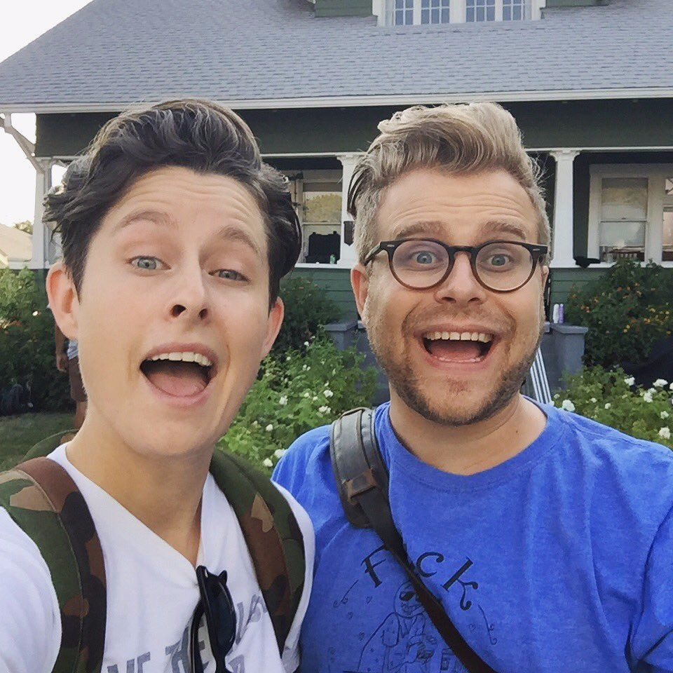 Adam Conover With On Screen Sister Rhea Butcher Attractive