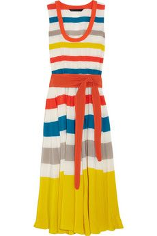 marc by marc jacobs 'simone striped silk dress' - makes me want to lounge on a yacht with a floppy hat and fancy cocktail