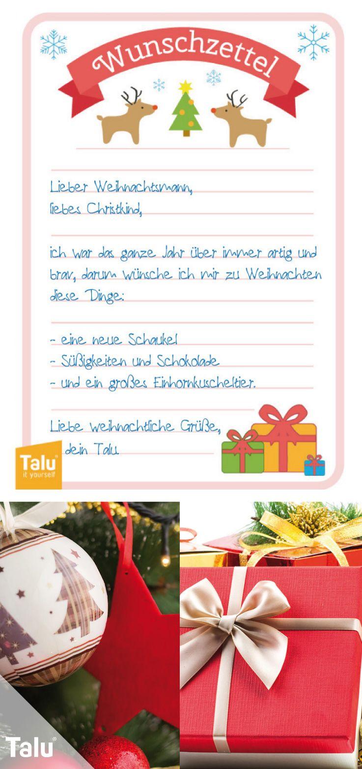 Wunschzettel Fur Weihnachten Word Vorlage Zum Ausdrucken Talu De Basteln Weihnachten Weihnachten Diy Ideen Basteln