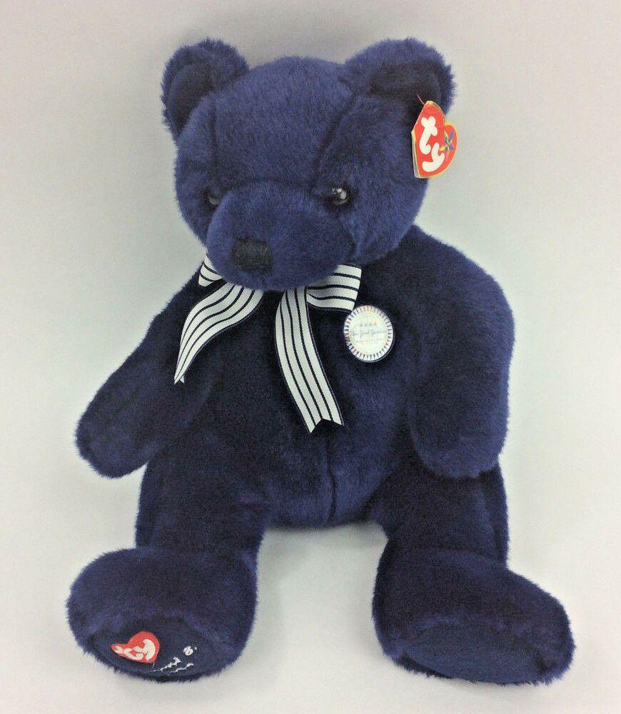 Ty World Class Teddy Bear New York Yankees Plush Buddy