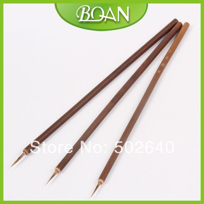 Wholesale 100pcs/bag Weasel Hair Brush Bamboo Handle Brush Nail Art ...
