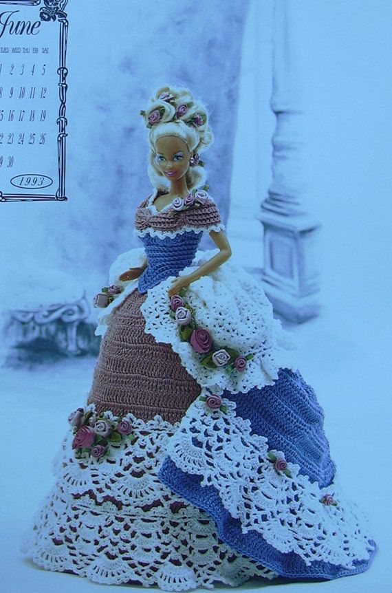 Booklet - Crochet Victorian Gown - Annies Calendar Bed Doll Society - June 1993