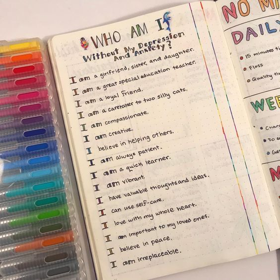 20 Great Mental Health Bullet Journal Pages -