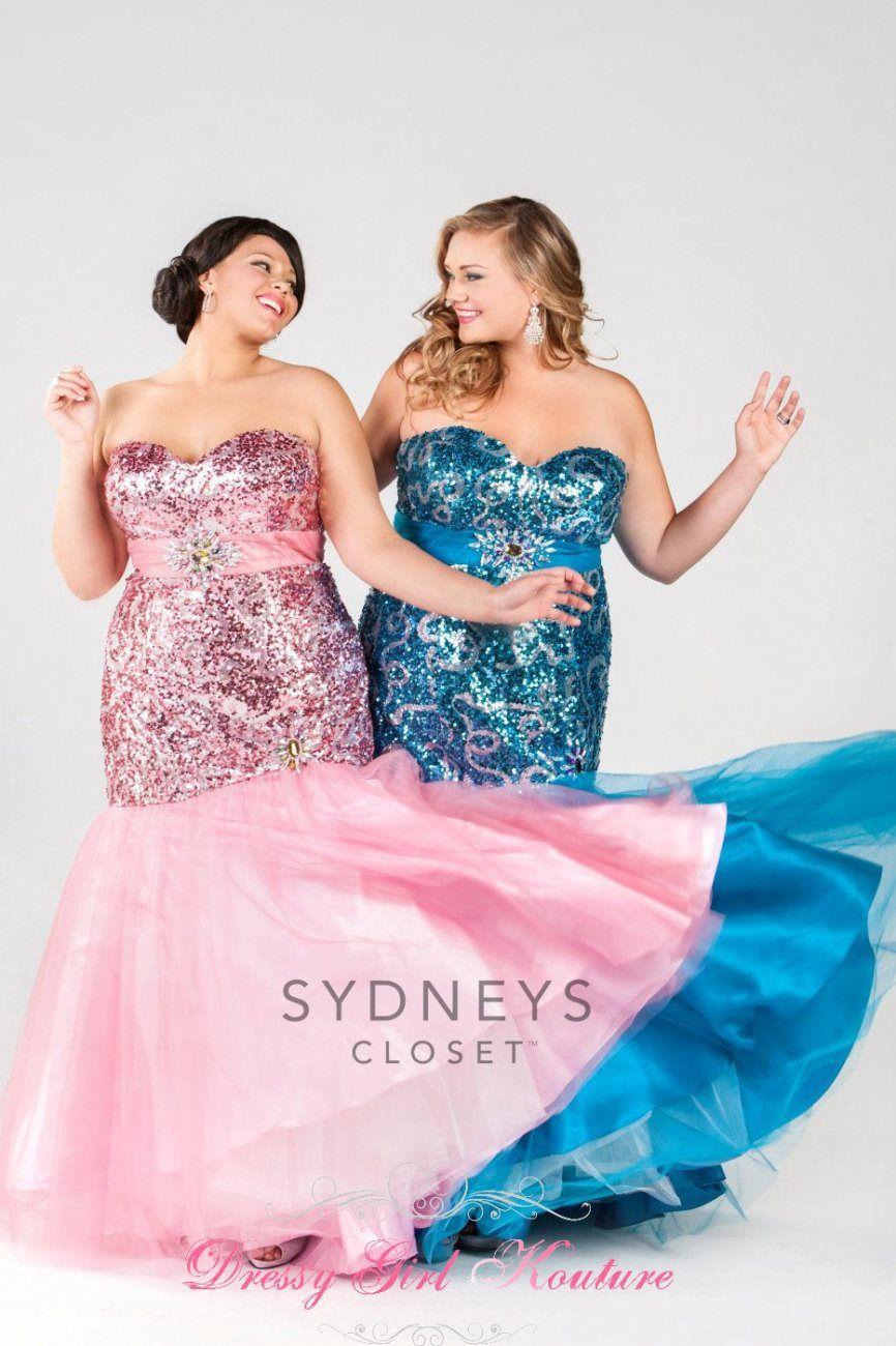 Sydney's Closet SC7097 twinkling taste #PromDressforPlusSize #SydneysCloset #FormalDresses2014 $398.00