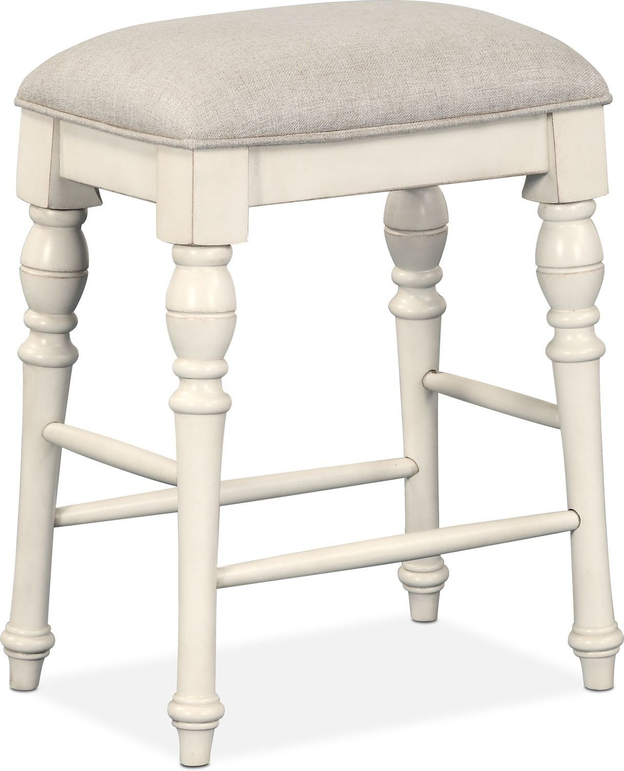 Charleston Counter Height Backless Stool White Upholstered Bar Stools Backless Bar Stools Backless Stools