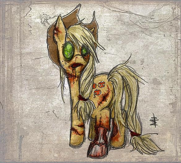 Zombie Applejack My Creepy Pony