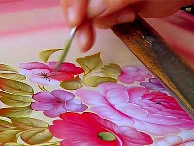 Жостовская роспись мастер класс роза