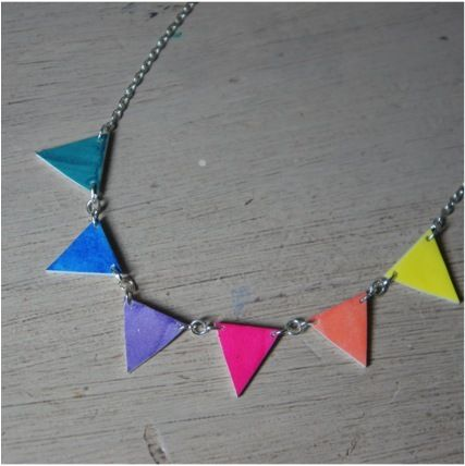 Image of Bright Bunting Necklace