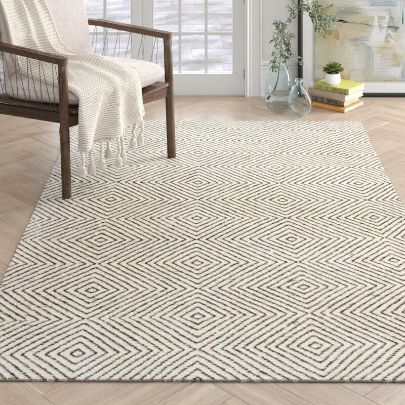 Marcelo Hand Tufted Wool Cotton Ivory Area Rug Reviews Allmodern Area Rugs Modern Area Rugs Rugs