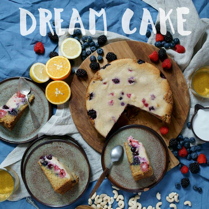 Berry Cashew Dream Cake