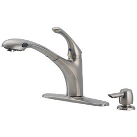 Delta Debonair Stainless 1 Handle Pull Out Kitchen Faucet 150
