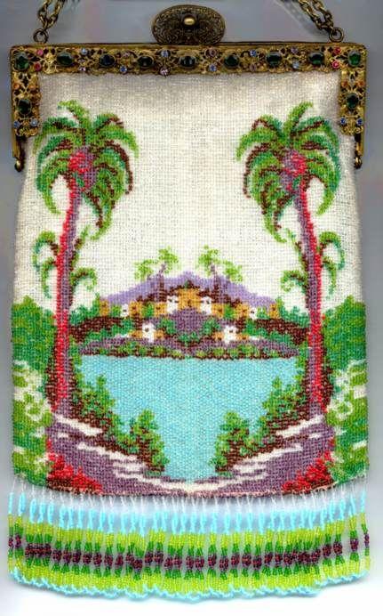 Island Vista with Jeweled Frame