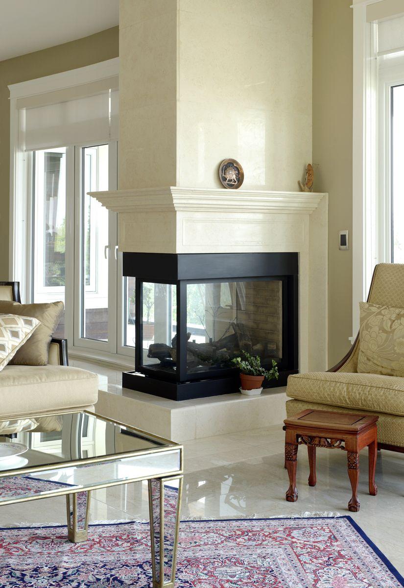 3 Sides Fireplace Mantel Egyptian Beige Polished Home Fireplace Fireplace Remodel Contemporary Fireplace