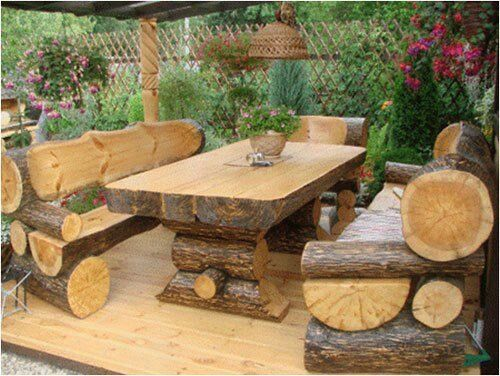 Outdoor Log Furniture Perfect For A Cabin