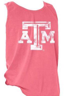 A&M Comfort Colors Tank - Crunchberry  - Texas Aggieland Bookstore