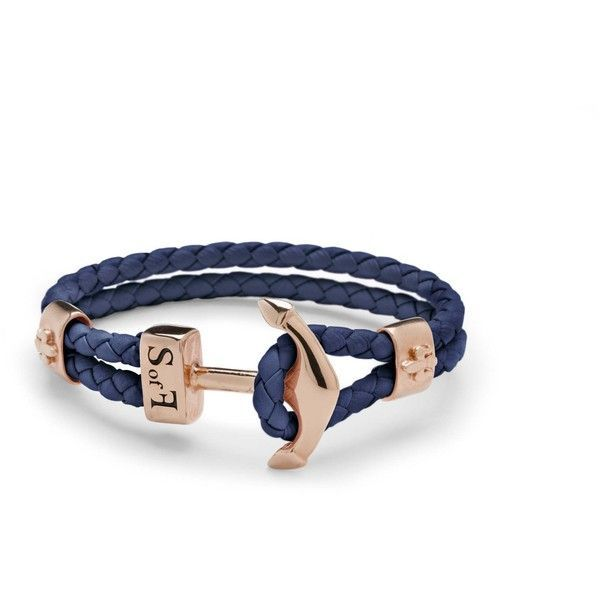 Anchor Bracelet Rose Gold 185 BRL liked on Polyvore featuring