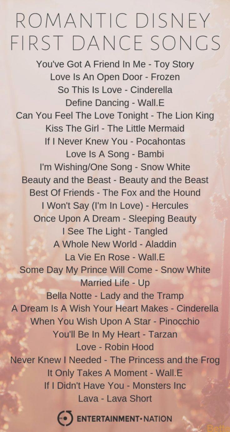 Disney Hochzeitslieder