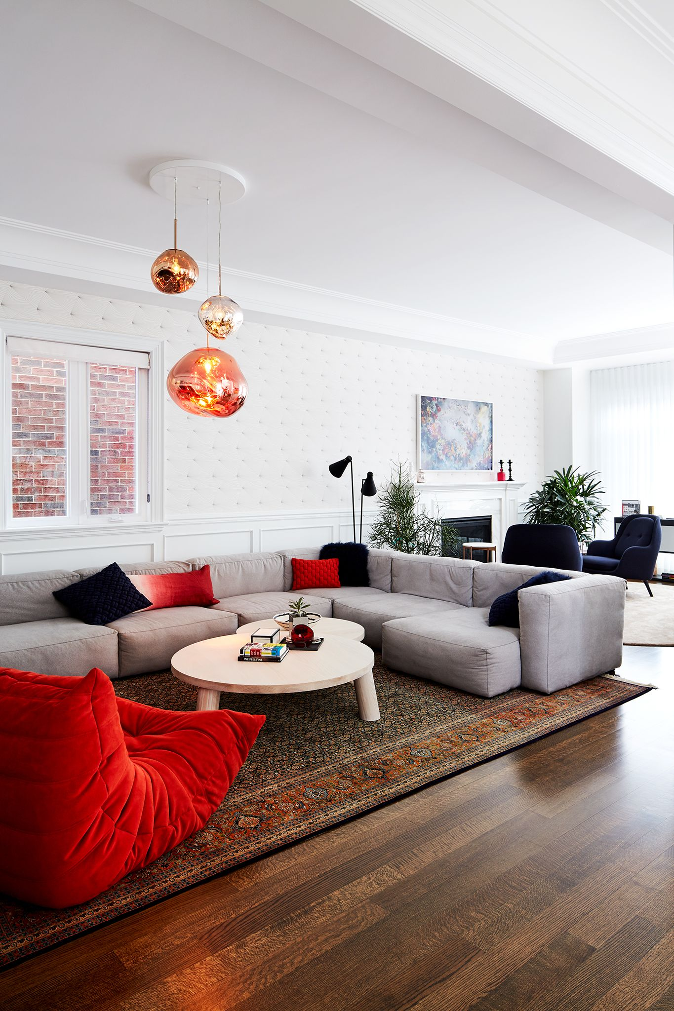 Tom Dixon Melt Lights Mag Sofa Ligne Rosset Chair Hanglamp Woonkamer Decoratie Design Woonkamers