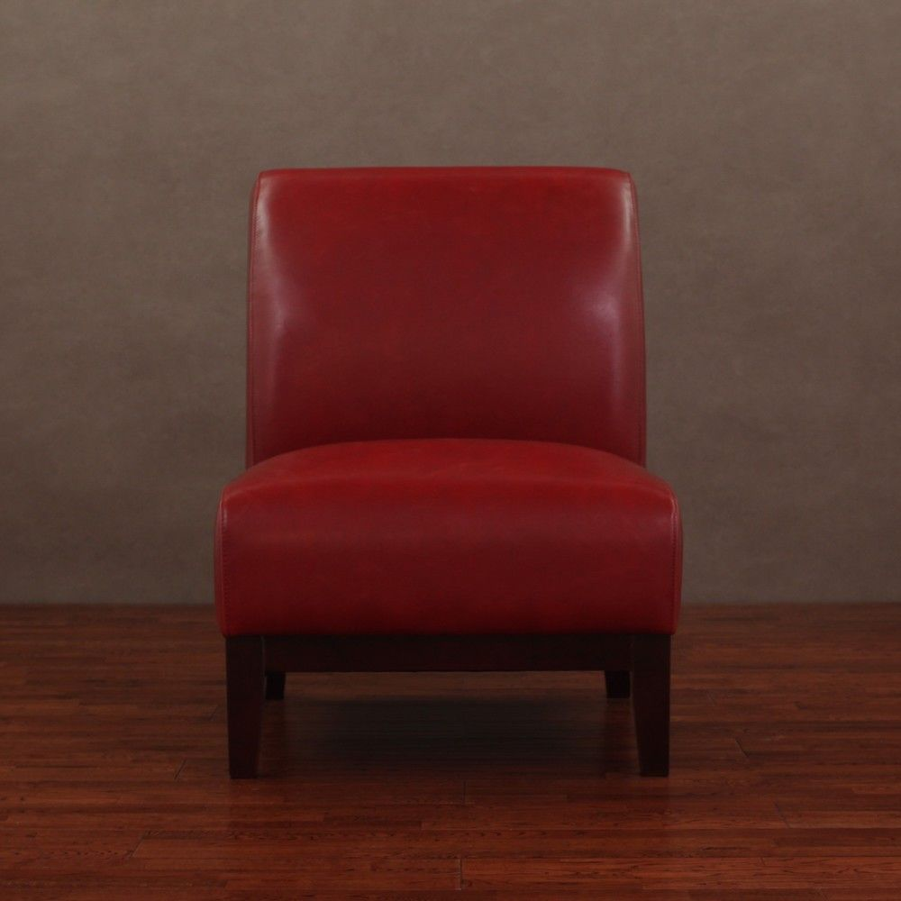 Cole Burnt Red Leather Chair | Overstock.com