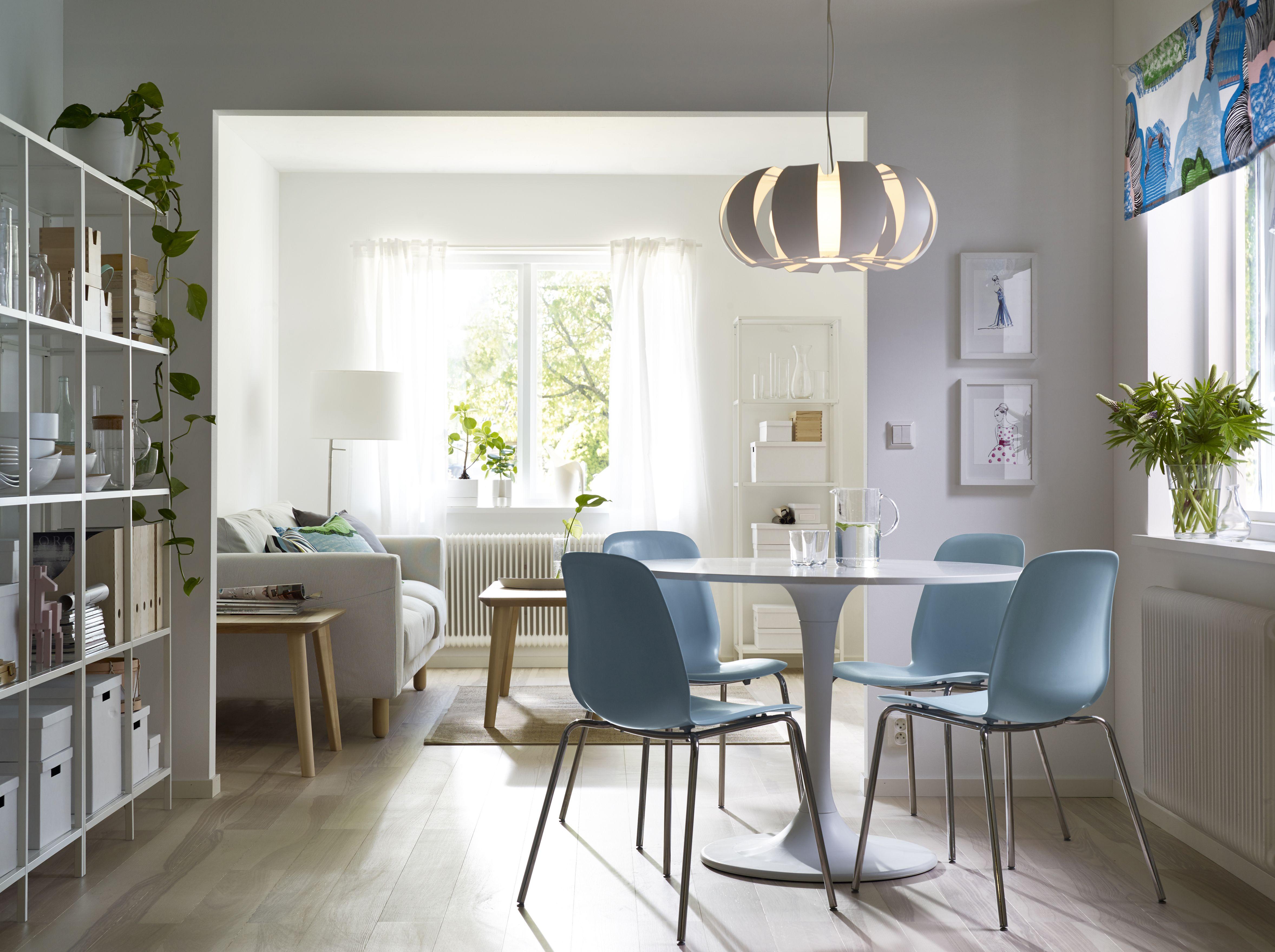 Salon scandinave avec coin repas | Deco | Pinterest | Interiores