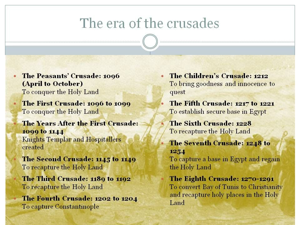 The Crusades - My favorite period in time. I have since a child ...