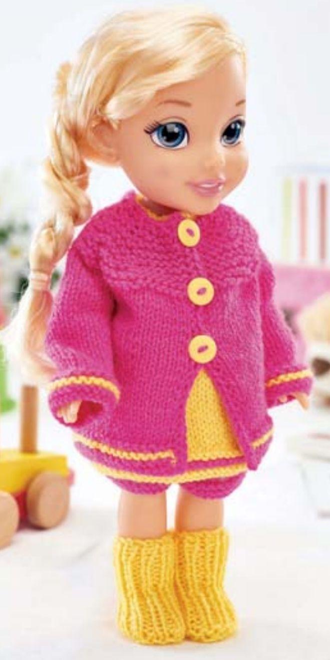 Easy Dolls\' Clothes Free Knitting Pattern | Pinterest | Knitting ...