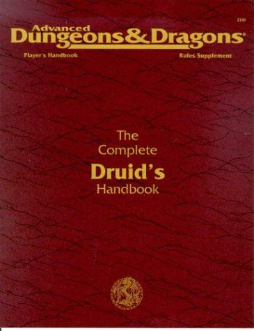 The Complete Druid S Handbook Advanced Dungeons Dragons 2nd Ed