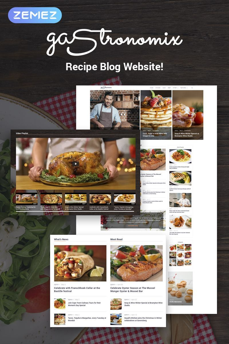 Gastronomix Restaurant Wordpress Theme An Exquisite Theme With Menu Functionality Ideal For Restaurants Cafes Pizzerias Wineries Bistros And More Fully