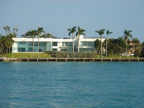 Frank Lopezs house in Scarface Interiors and pool 485 West Matheson Drive Key Biscayne