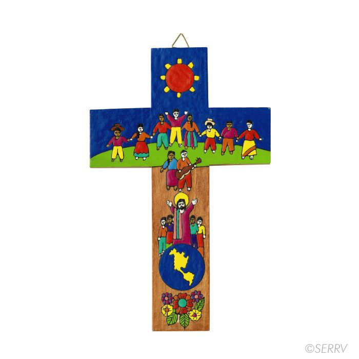 Children of The World Cross La Palma style crosses are painted ...