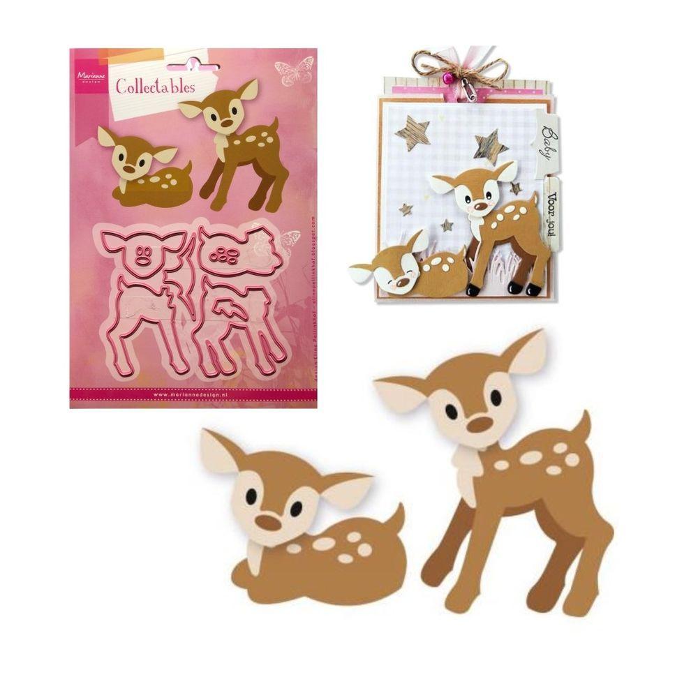 Eline/'s Deer Fawn Metal Die Cut Set Marianne Cutting Dies COL1401 Animals Wild