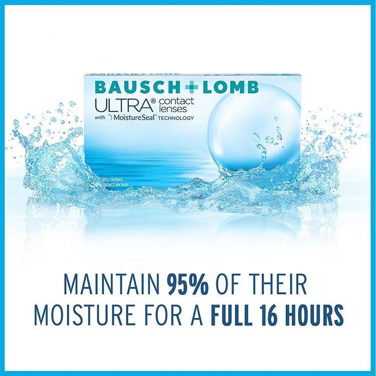 with moistureseal technology bausch lomb ultra contact lenses