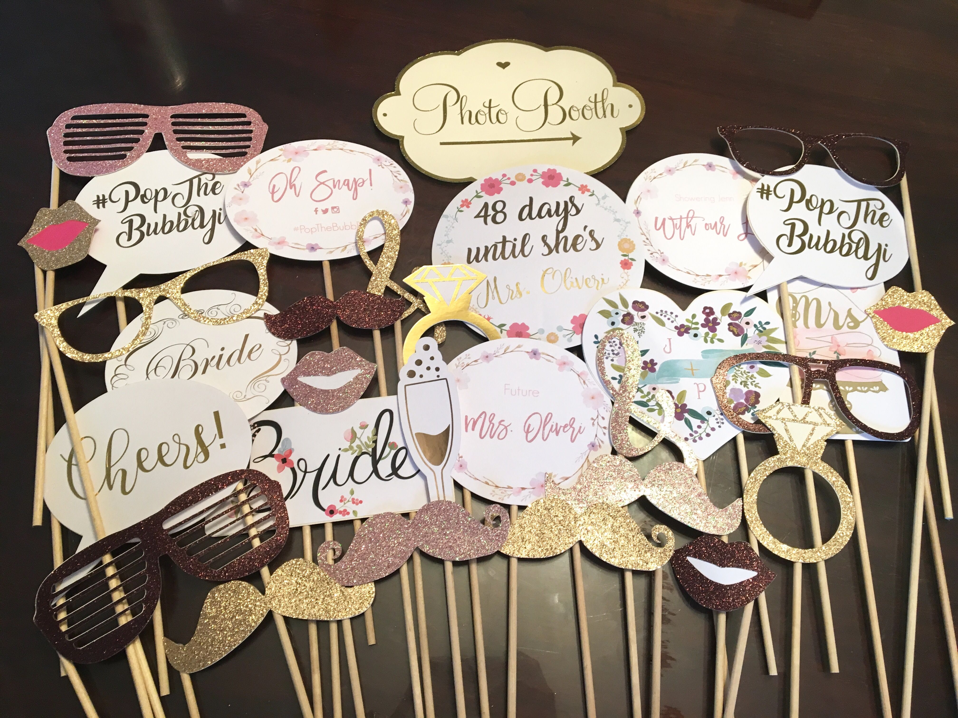 Photo Booth Diy Props Glitter Foil